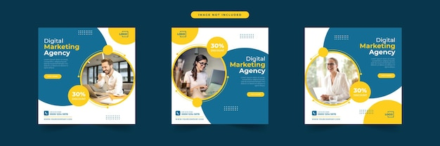 Digitale marketingbureau social media postsjabloon