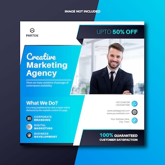 Digitale marketingbureau sociale media plaatsen webbanner