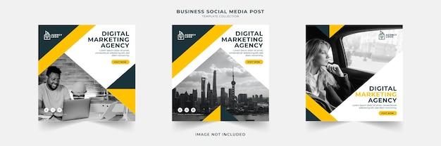 Digitale marketingbureau sociale media post sjabloonverzameling