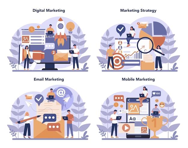 Digitale marketingconceptenset