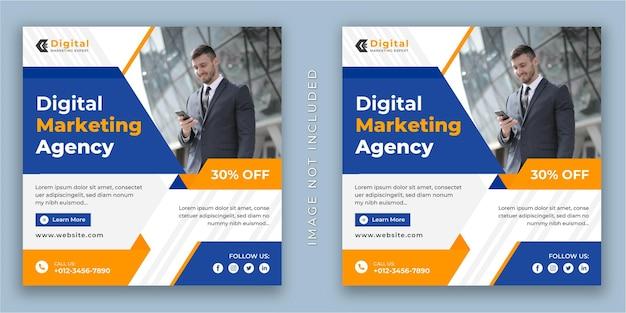 Digitale marketingexpert en zakelijke flyer vierkante sociale media instagram post of websjabloon voor spandoek