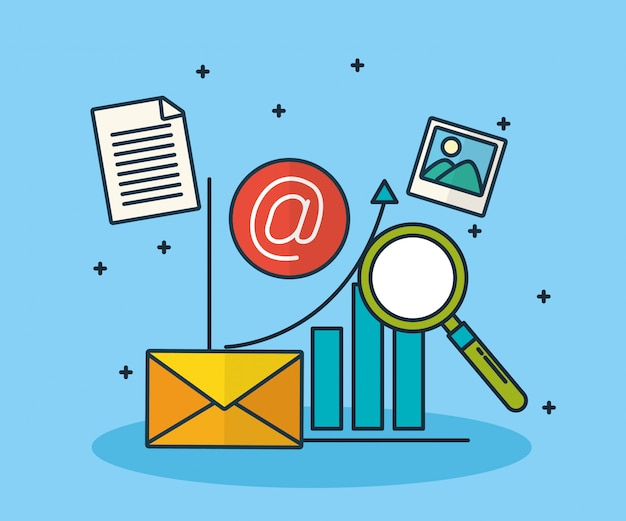 Digitale marketingtechnologie met envelop