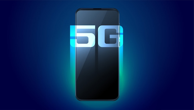 Digitale mobiele vijfde generatie snelle technologie achtergrond