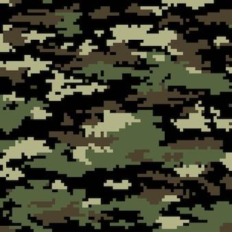 Digitale pixelcamouflage. naadloze achtergrond. vectoreps 10.