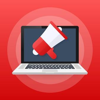Digitale reclame, e-mailmarketing, online conferentie, mediapromotie
