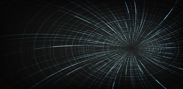 Digitale spiraal zwart gat achtergrond