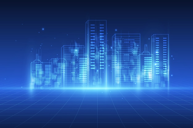 Digitale stadsachtergrond