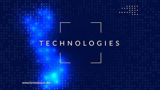 Digitale technologie abstracte achtergrond. kunstmatige intelligentie,