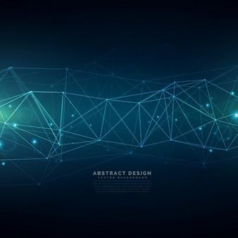 Digitale technologie achtergrond opgebouwd uit lijnen mesh