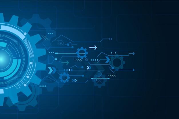 Digitale technologie en engineering, digitale telecomconcept, hi-tech, futuristische technologische achtergrond,