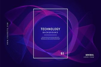 Digitale technologie Golflijnen Mesh geometrische achtergrond
