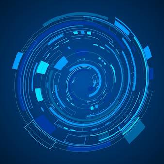 Digitale technologie pictogram illustratie. internet van dingen sjabloon achtergrond.