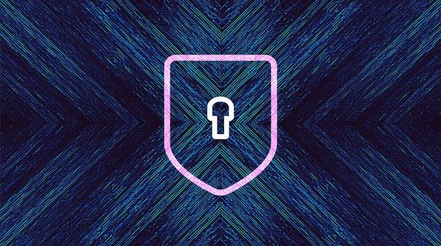 Digitale technologie shield beveiliging, bescherming en verbinding concept achtergrondontwerp. vectorillustratie.