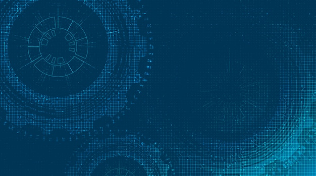 Digitale technologie versnellingen wiel en haan met circuit lijn achtergrond.