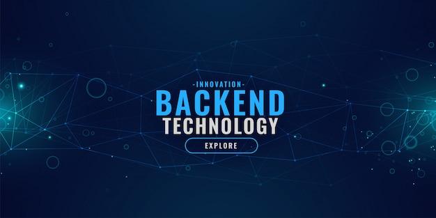 Digitale technologieachtergrond met gloeiend lijnennetwerk