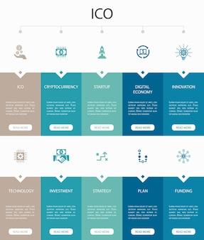 Digitale transformatie infographic 10 stappen cirkel ontwerp. digitale diensten, internet, cloud computing, technologie eenvoudige pictogrammen