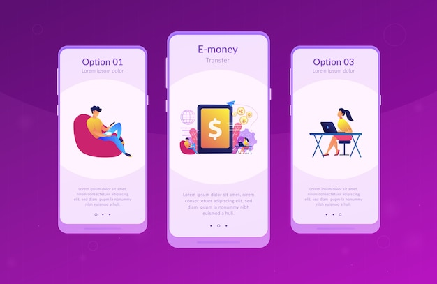 Digitale valuta app-interfacemalplaatje