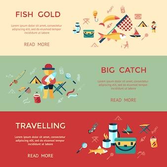 Digitale vector infographic infographics van de visserijactiviteit vastgestelde inzameling
