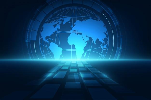 Digitale wereldwijde technologische achtergrond