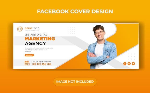Digitale zakelijke marketing facebook cover sjabloonontwerp