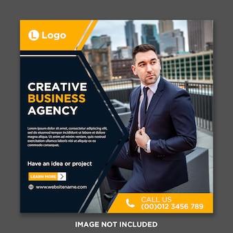 Digitale zakelijke marketing instagram post
