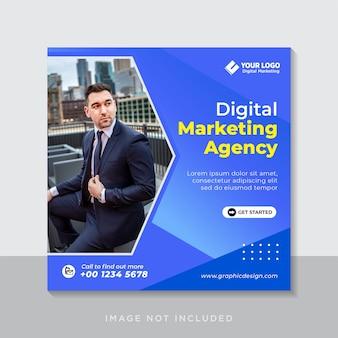 Digitale zakelijke marketing instagram postsjabloon