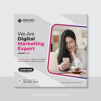 Digitale zakelijke marketing social media banner of vierkante flyer