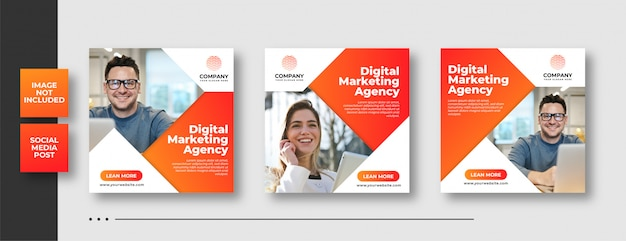 Digitale zakelijke marketing social media post & webbanner