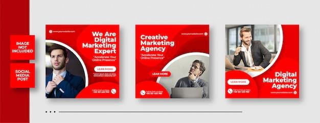 Digitale zakelijke marketing social media post