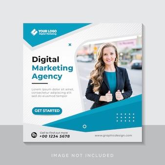 Digitale zakelijke marketing sociale media-banner of vierkante flyer