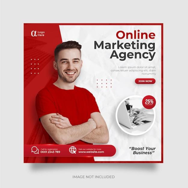 Digitale zakelijke marketing sociale media post-sjabloon