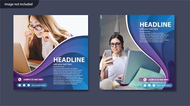 Digitale zakelijke marketing sociale media postsjabloon
