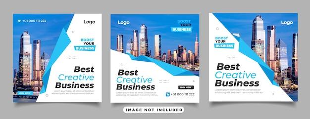 Digitale zakelijke marketingbanner voor instagram-postsjabloon