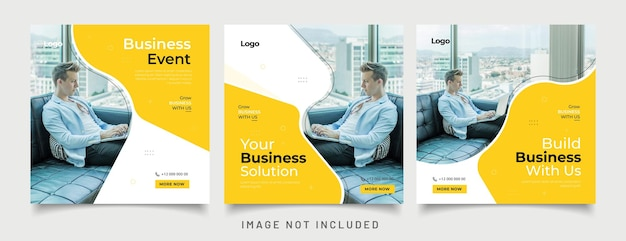 Digitale zakelijke marketingbanner voor postsjabloon voor sociale media