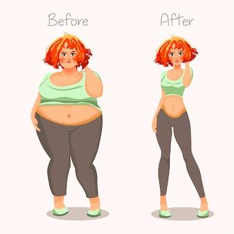 Dikke en magere meisjes.