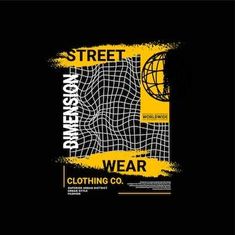 Dimensie schrijven ontwerp geschikt voor zeefdruk t-shirts kleding jassen en anderen