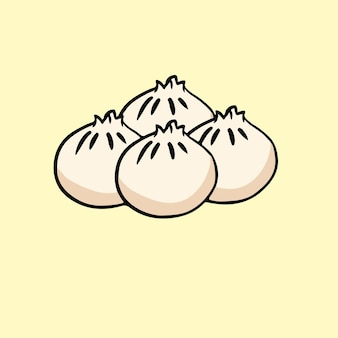 Dimsum symbool voedsel vectorillustratie