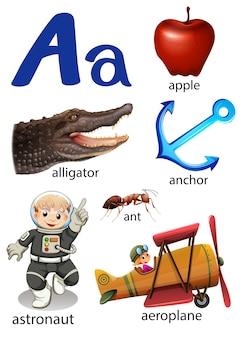 Dingen die beginnen met de letter a