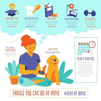Dingen die je thuis kunt doen, vrouw en hond