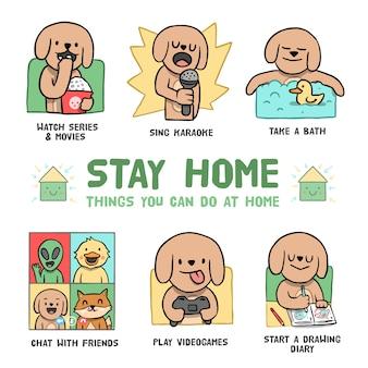 Dingen om thuis infographic te doen