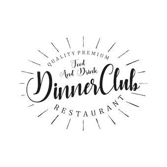 Dinner club-logo voor restaurant