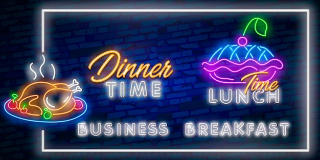 Dinner time neonreclame