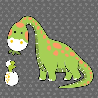 Dino familie cartoon vector