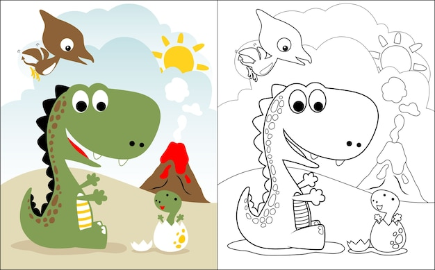 Dino familie cartoon