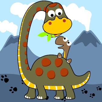 Dino familie cartoon