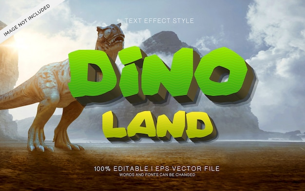 Dino land tekst effecten