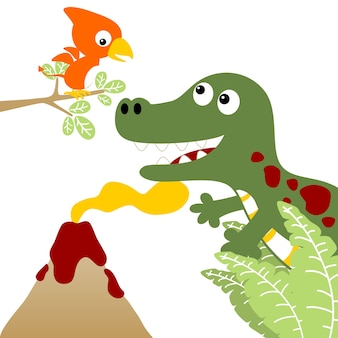 Dino wereld cartoon vector