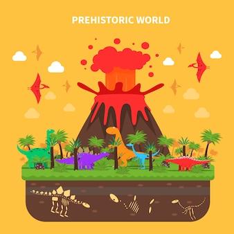 Dinosaurs concept illustratie