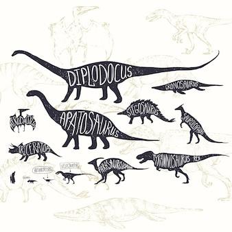 Dinosaurs ontwerp achtergrond