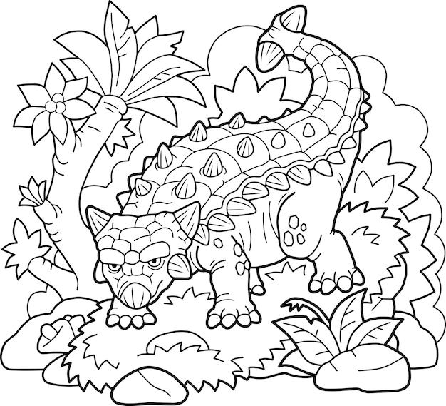 Dinosaurus ankylosaurus